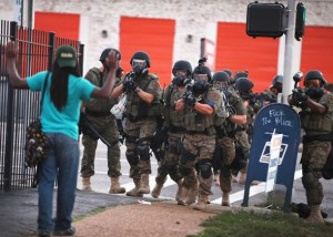 Ferguson Police Department aka Fatigue Wearing Badasses playing at war.
