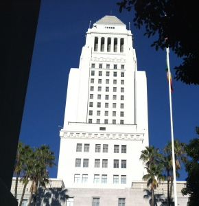 L. A. City Hall and boy is it HOT!